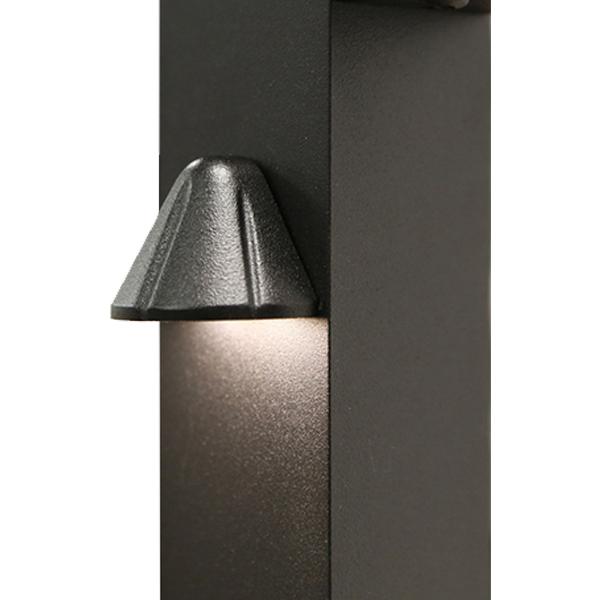 Westbury Railing Tear Drop Side Light - Black