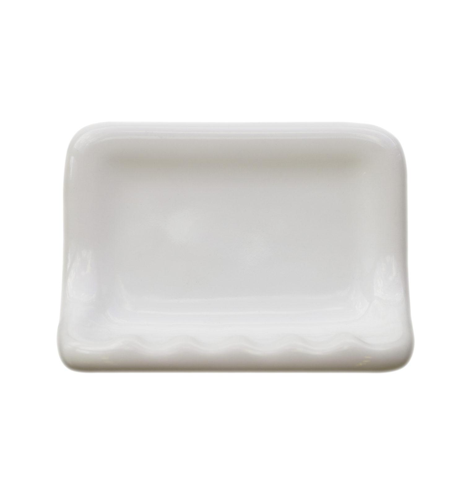 White soap dish
