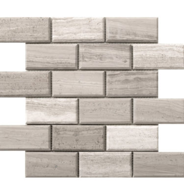wood grey brick mosaic