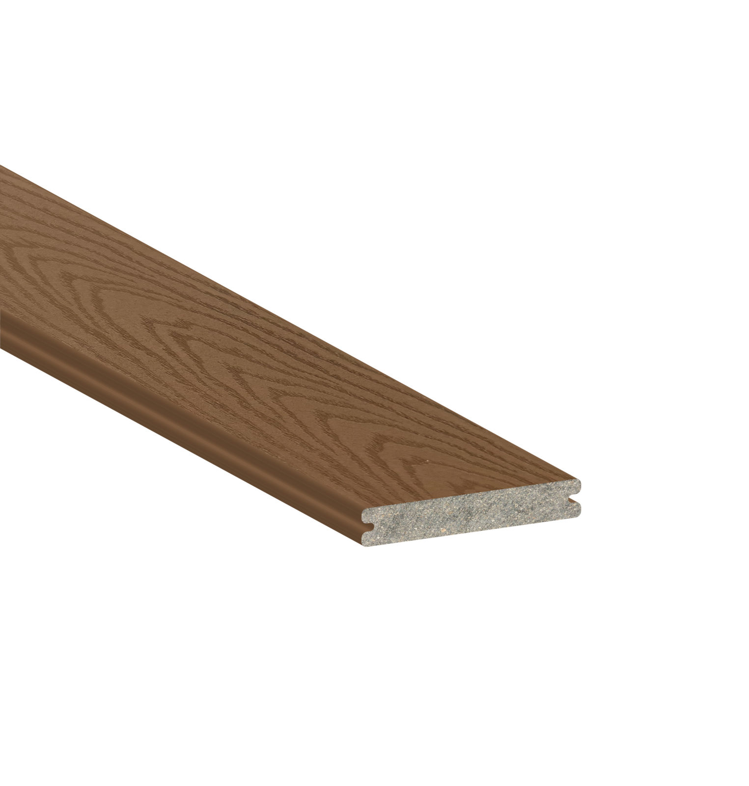 Trex select saddle grooved 16 39 schillings for Capped composite decking prices