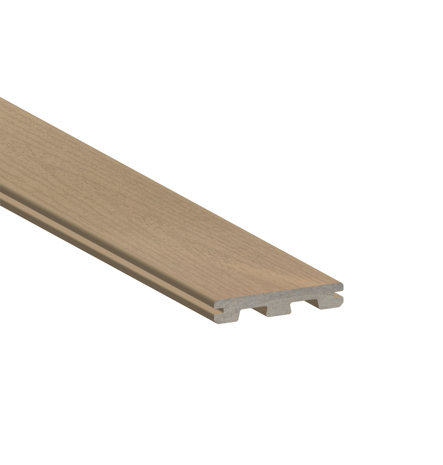 Timbertech terrain sandy birch grooved 16 39 schillings for Capped composite decking prices