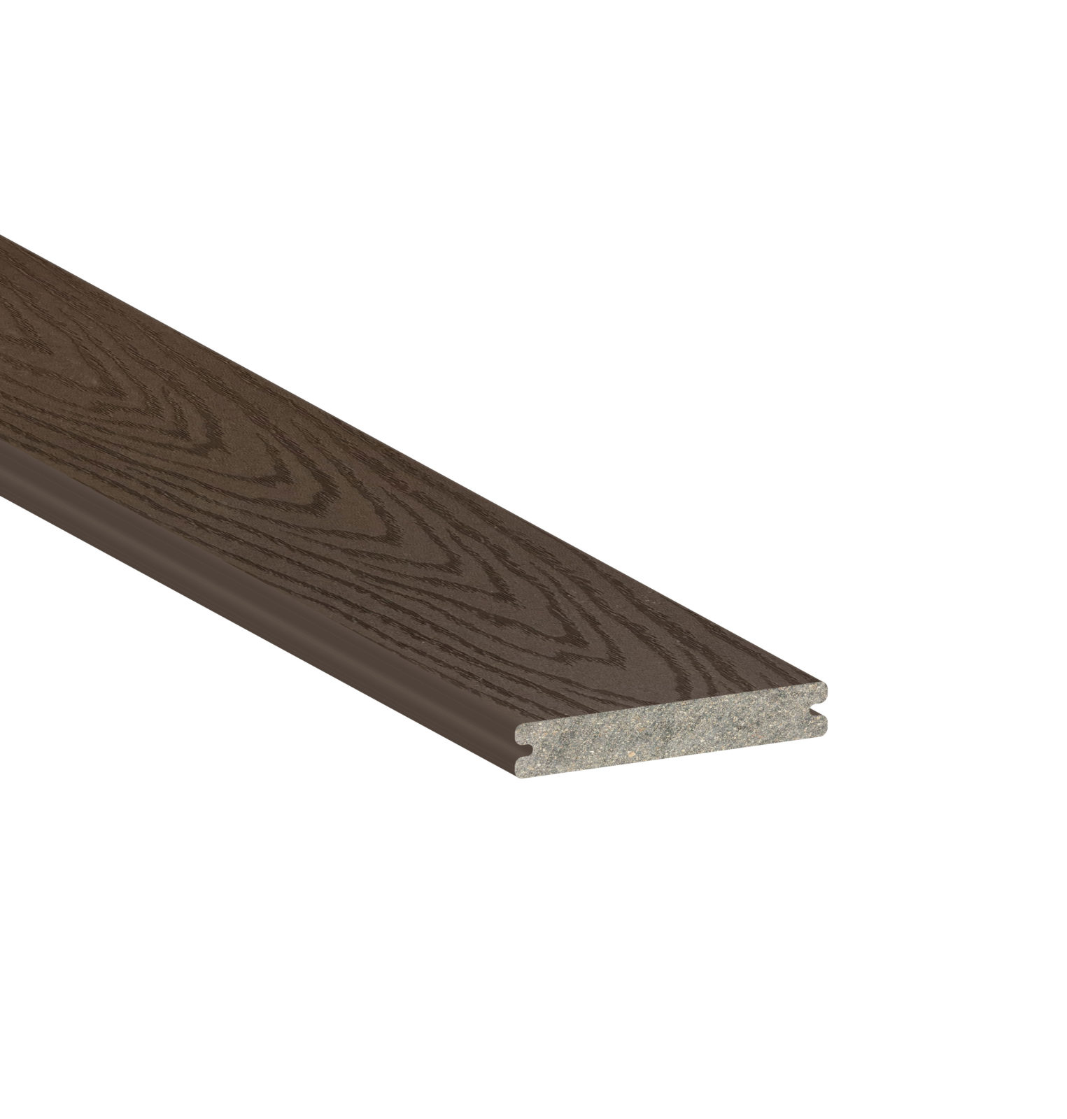 Trex select woodland brown grooved 16 39 schillings for Composite decking products
