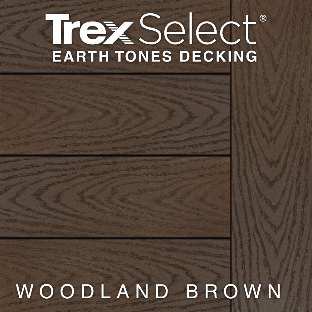 Color Selector Trex Select Earth Tones Woodland Brown Decking