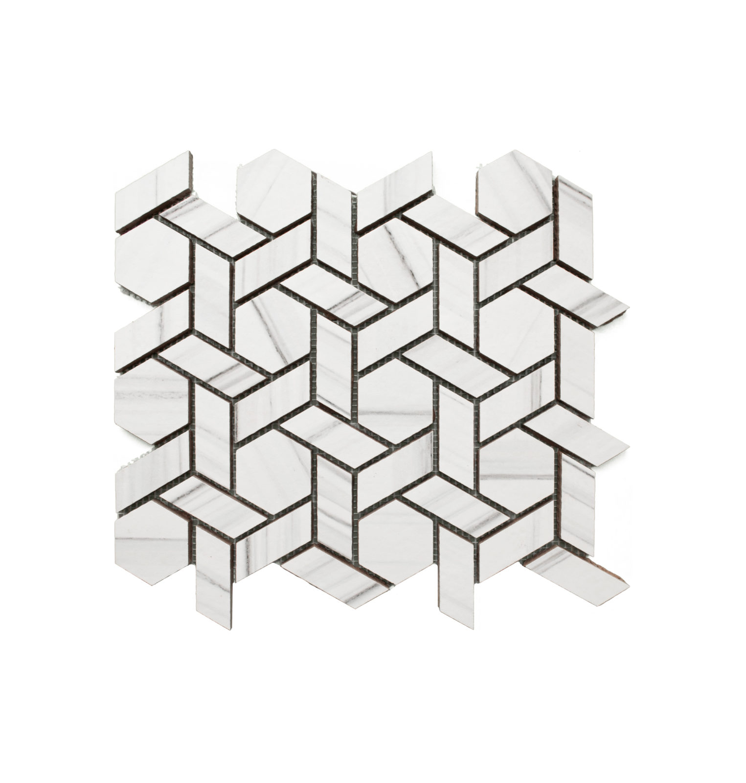 Interceramic Countour Zebrino Weave Mosaic Schillings