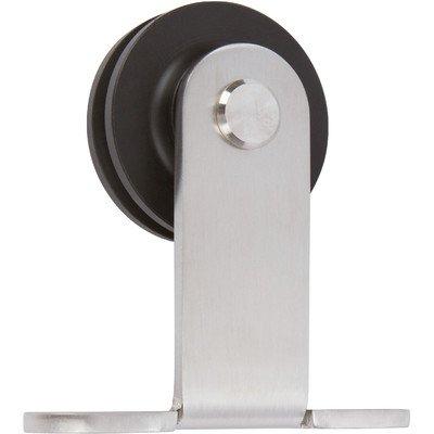8 Top Mount Barn Door Hardware Brushed Steel Schillings