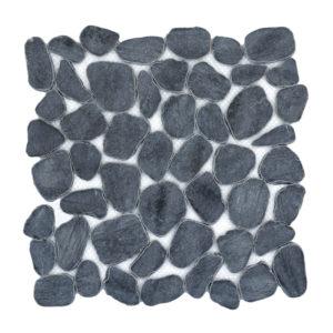 flat cultura black pebble mosaic