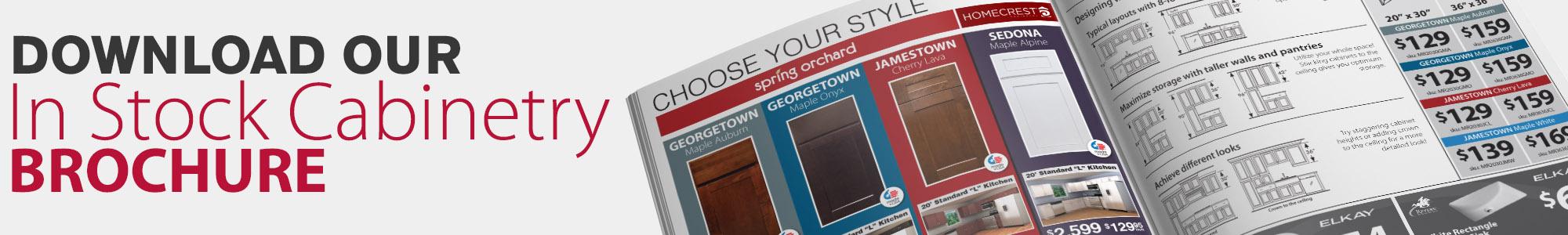 instock cabinet brochure button