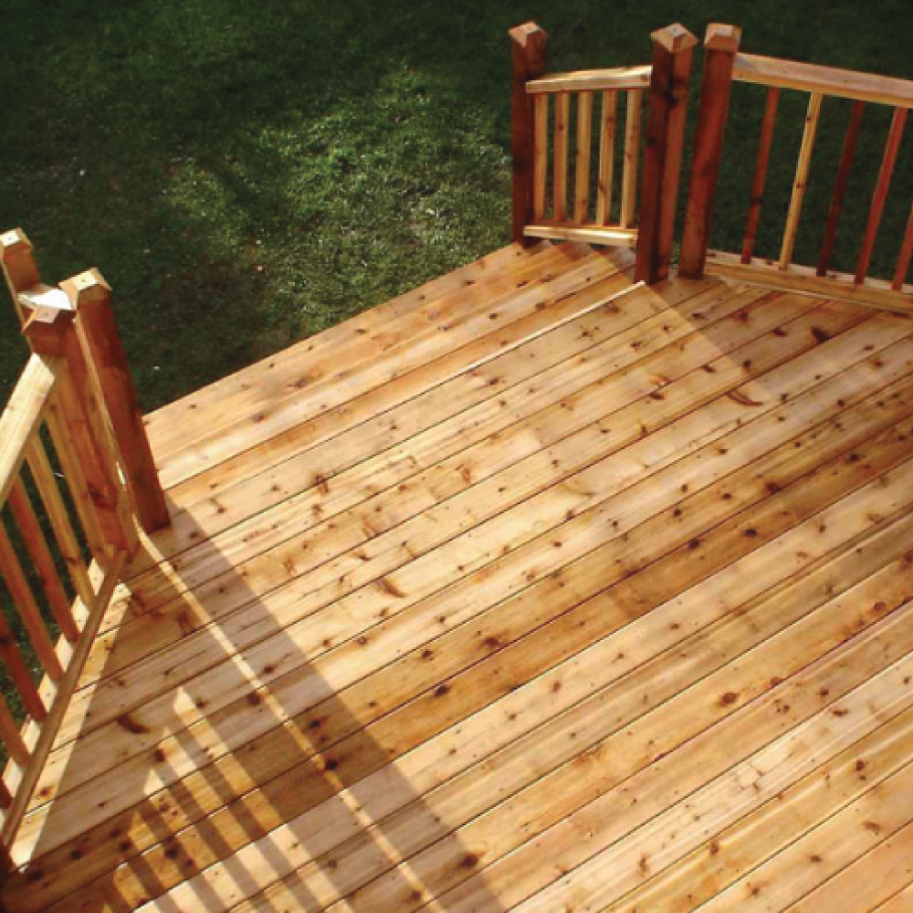 Example of a natural decking